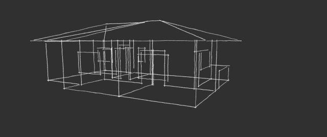 Instalação 1 - Vista com telhado -